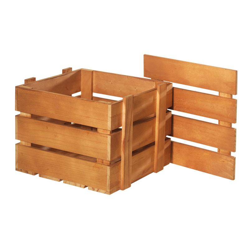 Packaging pour poule en chocolat - Coffre en bois Joyeuses Pâques