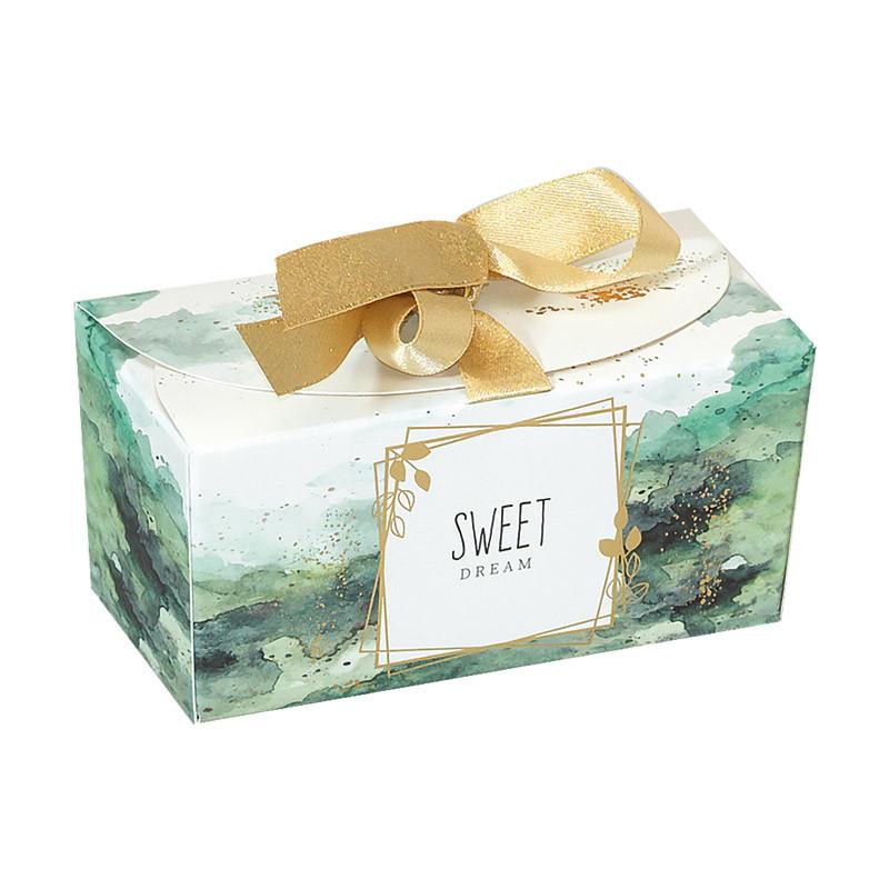 Packaging de luxe pour chocolatiers exigeants - Ballotin Ruban Esquisse - Recto