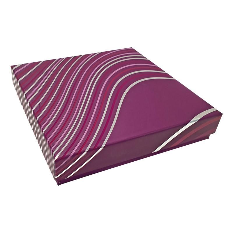 Molière Onduline, Boîte carrée grand luxe pour Chocolatiers/Pâtissiers