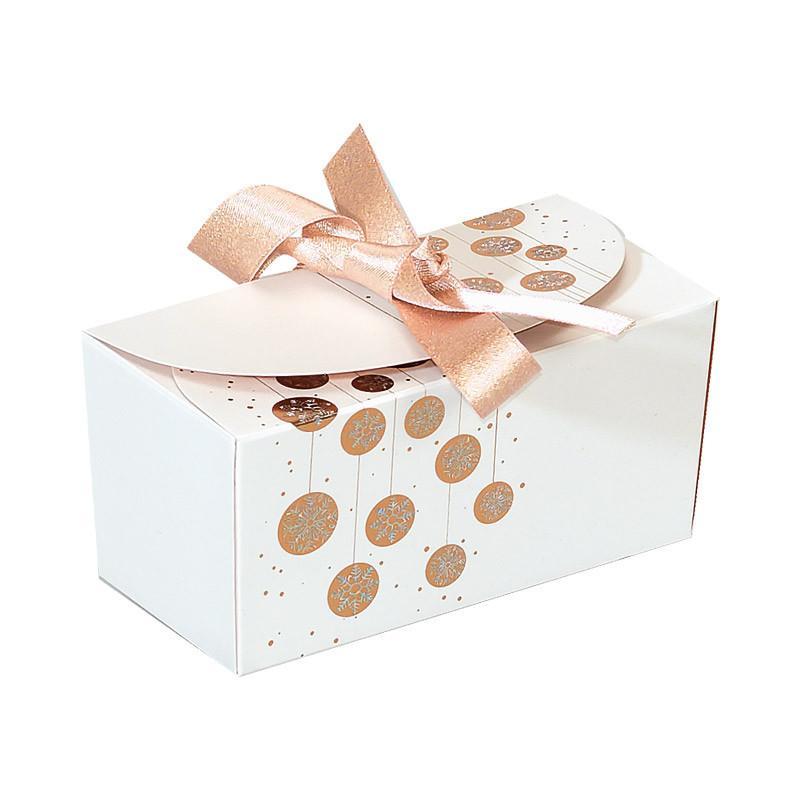Packaging de luxe pour chocolatiers - Ballotin Ruban Guirlande Blanche