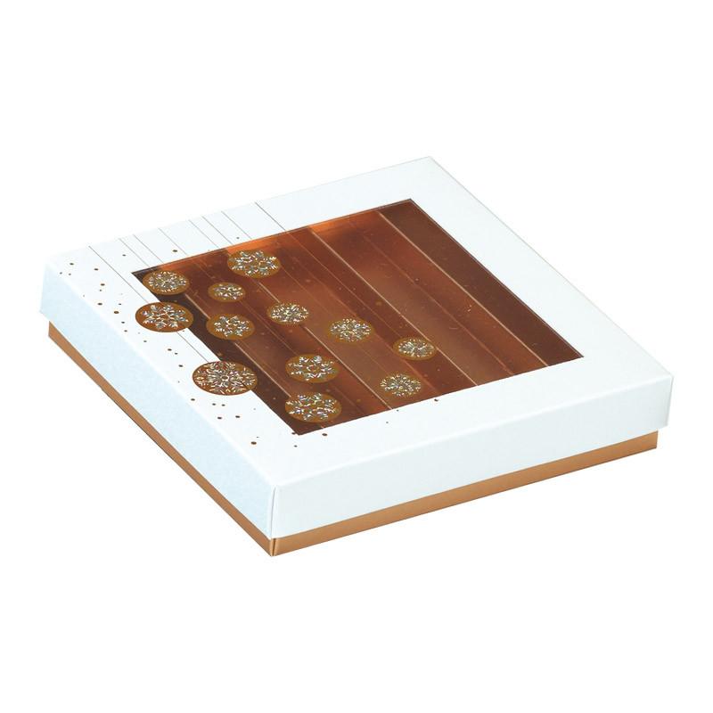 Molière Guirlande Blanche - Boîte carrée avec fenêtre transparente