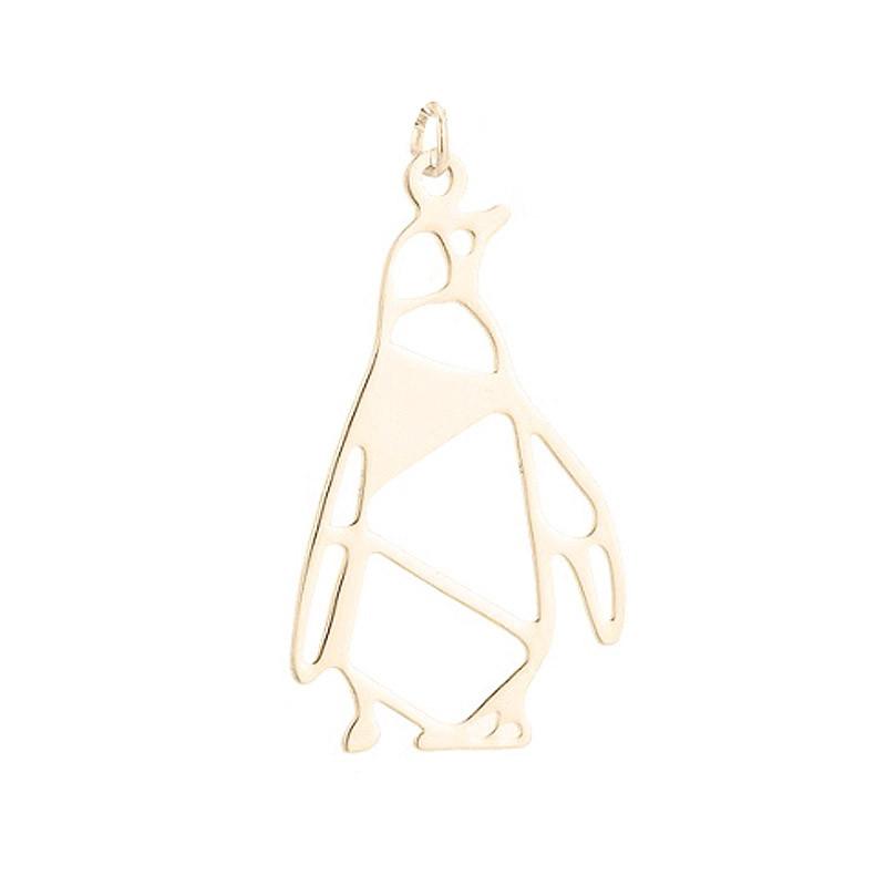 Pendentif Pingouin Doré - Accessoire style origami pour packagings