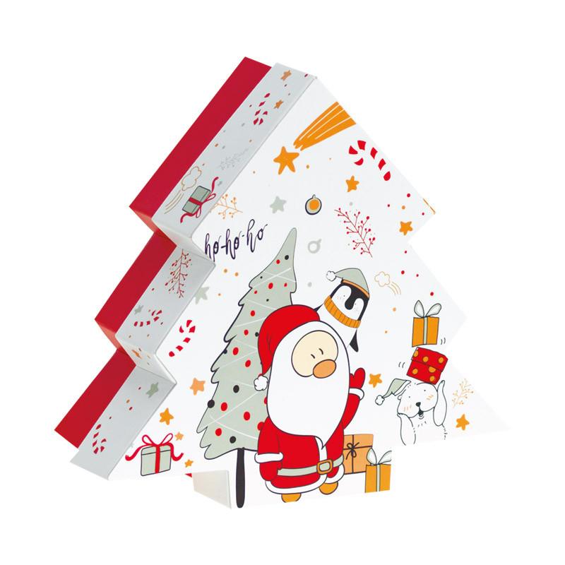 Boîte Sapin Blanc Noël & Co - Packaging de Noël pour chocolatiers