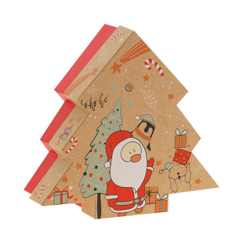 Boîte Sapin Kraft Noël & Co - Packaging de Noël pour chocolatiers !