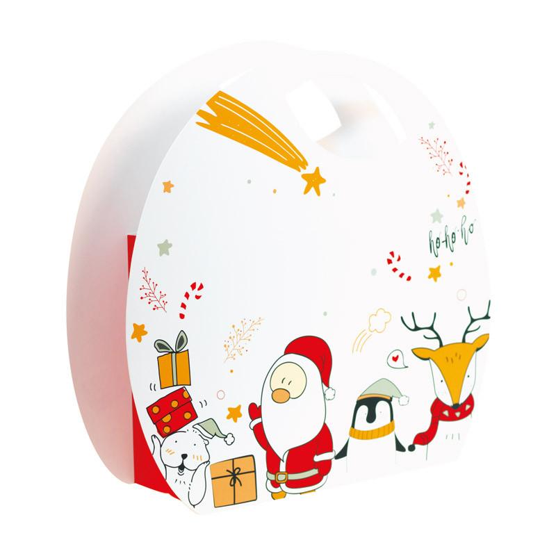 Sac boule Blanc Noël & Co - Packaging luxe chocolatiers / pâtissiers
