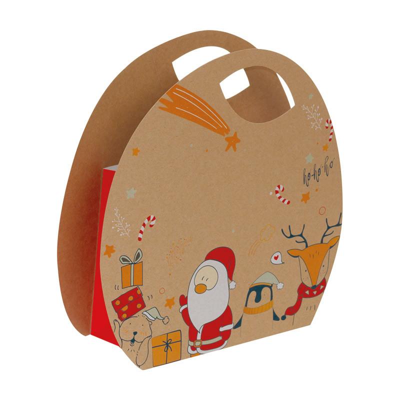 Sac Boule Kraft Noël & Co - Packaging luxe chocolatiers / pâtissiers