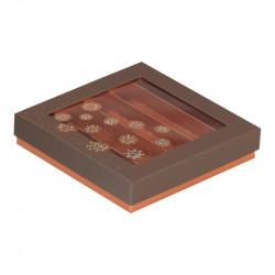 Molière Guirlande - Boîte carrée pour chocolatiers, Pâtissiers, Confiseurs