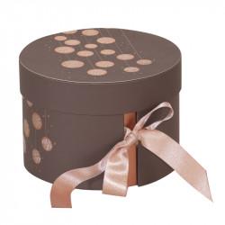 Boîte ronde Élisa Guirlande - Packaging 2 compartiments  pour macarons