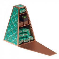 Millésime Luminia ouverte - Boîte Pyramide Tronquée - Phosphorescente !