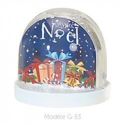 Boule à Neige Caméléon - Packaging personnalisable avec carte G-33