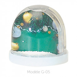 Boule à Neige Caméléon - Packaging personnalisable avec carte G-05