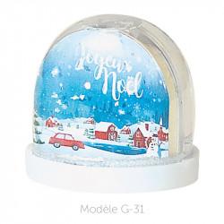 Boule à Neige Caméléon - Packaging personnalisable avec carte G-31