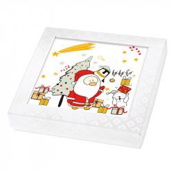 Packaging alimentaire personnalisé - Carte Caméléon Père Noël G-30