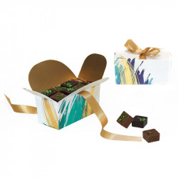 Packaging de luxe pour chocolatiers - Ballotin Ruban Aquarelle
