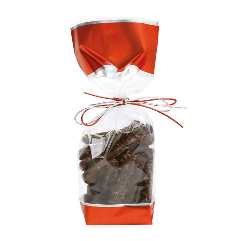 Sachet Glacé rouge métallisé - Packaging luxe pour chocolatier