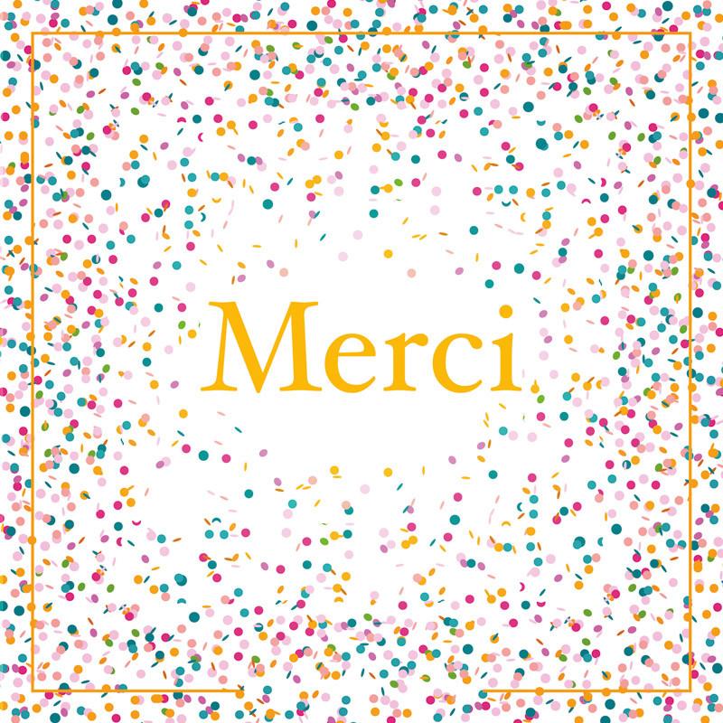 """""""Merci ! """" - Carte Caméléon I-54 pour chocolatiers / pâtissiers"""
