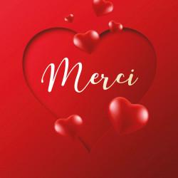 """""""Merci ! """" - Carte Caméléon I-55 pour chocolatiers / pâtissiers"""