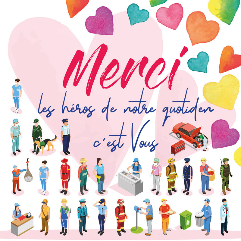 """""""Merci, les Héros du Quotidien, c'est vous !"""" - Carte Caméléon I-56"""