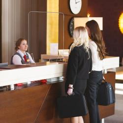 Vitre de comptoir pour commerçants, praticiens, bureaux, réception