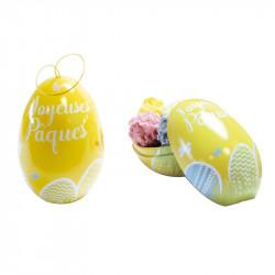 "Packaging original : Petits Œufs Métalliques ""Joyeuses Pâques"""