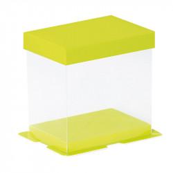 Boîte Calisto Carrée horizontale Verte - Présentation moulage à Pâques
