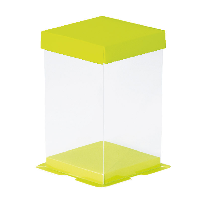Boîte Calisto Carrée verticale Verte - Pour présenter vos créations en chocolats pour Pâques