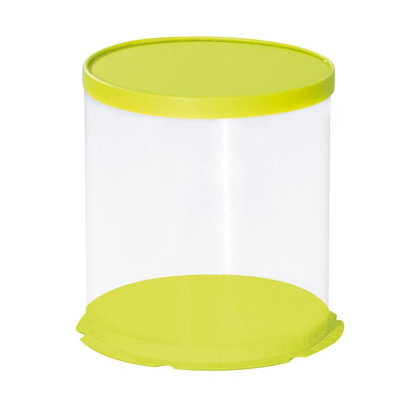 Boîte Calisto Ronde verticale Verte  - Pour présenter vos créations en chocolat pour Pâques
