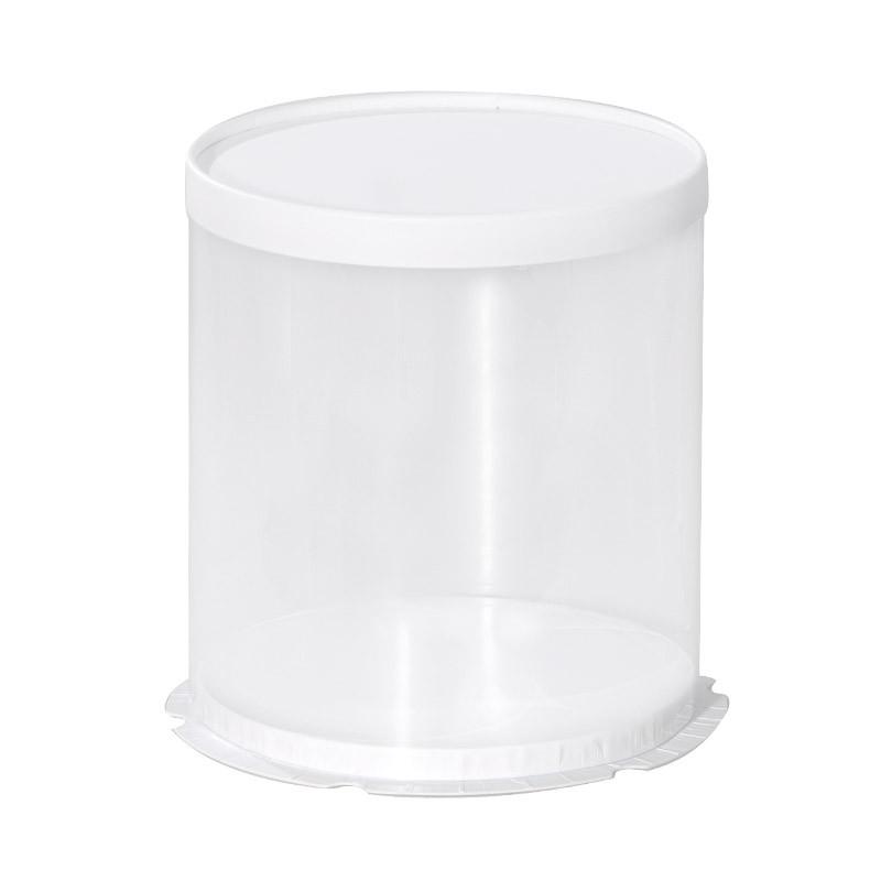 Boîte Calisto Ronde verticale Blanche - Pour présenter toute création en chocolat !