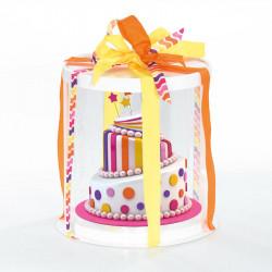 Magnifique Boîte Calisto Ronde verticale Blanche - Pour présenter toute création en chocolat !