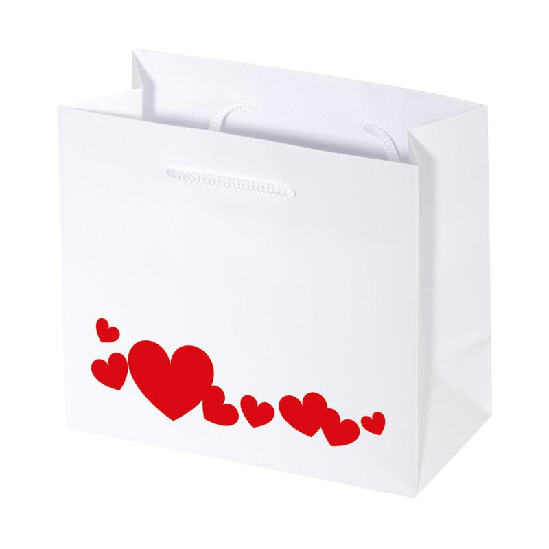 """Sac Cabas Blanc """"Délicatesse"""" - Packaging St Valentin créa Française"""