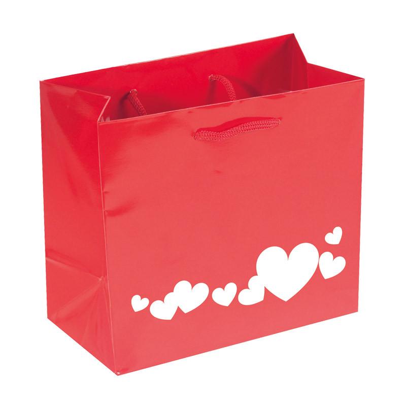 """Sac Cabas Rouge """"Délicatesse"""" - Packaging St Valentin créa Française"""