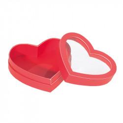 Boîte Cœur à fenêtre rouge - Packaging chocolats pour déclarer sa flamme !