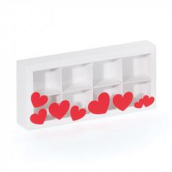 Packaging pour la Saint-Valentin avec 6 ou 8 cases à remplir de chocos