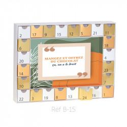 Calendrier de l'Avent Caméléon Imprimé - Décors illimités à imprimer ! B-15