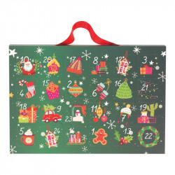 Valisette Calendrier de l'Avent Magique - Illustration Noël tradition
