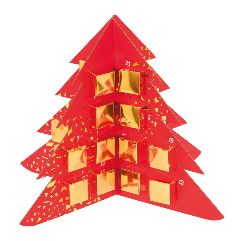 """Calendrier Sapin de l'Avent """"Féérique"""" - Packaging Original pour Noël"""