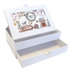 Boîte Kristie Caméléon - Pour Chocolatiers / Pâtissiers / Confiseurs - Imprimez le décor de votre choix sur le couvercle