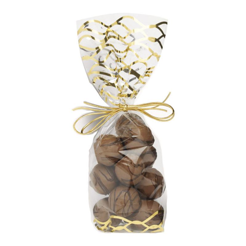 """Sachet """" Vagues Or """" - Packaging de luxe pour chocolatiers/pâtissiers"""