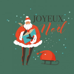 Carte Caméléon G-36 - Taille 1 - Joyeux Noël