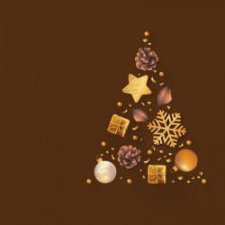 Packaging alimentaire personnalisé - Carte Sapin de Noël