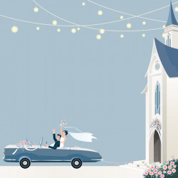 Emballage personnalisé - Carte Caméléon mariage personnalisable I-61