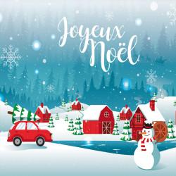 Packaging alimentaire personnalisé - Carte Caméléon Joyeux Noël