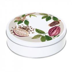 Boîte ronde métallique empilable Caméléon B-02 - Cabosses de chocolat
