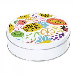 Boîte ronde métallique Caméléon D-16 - Illustration Fruits d'été !