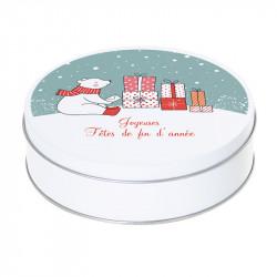 Boîte ronde métallique Caméléon G-40 - Joyeuses fêtes de fin d'année !