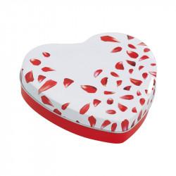 Cœur Métallique Délicatesse - Packaging idéal pour la Saint-Valentin