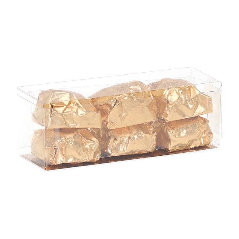 Boîte rectangle Transparent - Packaging alimentaire simple et efficace - Marrons Glacés