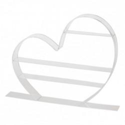 Présentoir Cœur acrylique - Vitrine St-Valentin, fête des Mères, ...