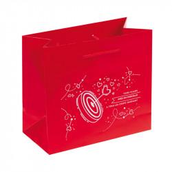 """Sac cabas rouge de la gamme de packagings ludiques """"Plein Cœur"""""""