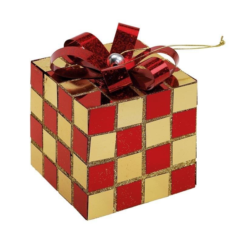 Cadeau or / rouge